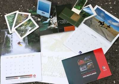 Calendar and card samples, produced by Yvonne van Leeuwen